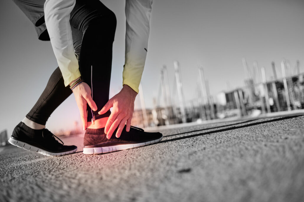 sprained ankle, inflammation, men's health