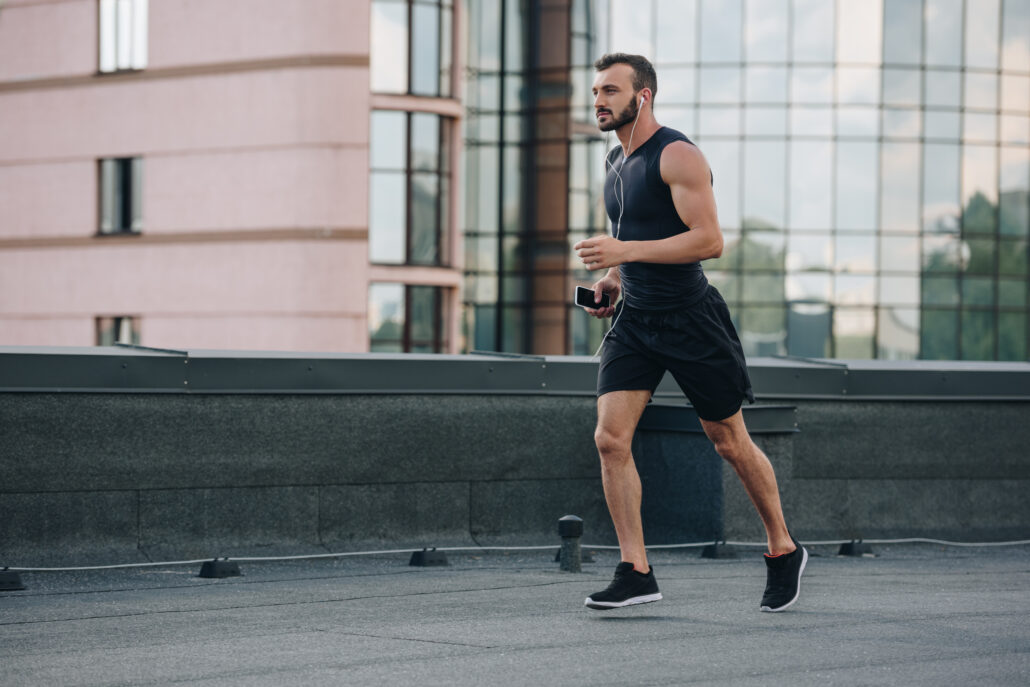Man running cardio helps to fight Erectile dysfunction