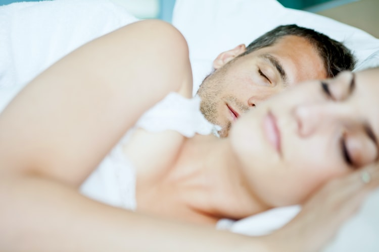 Couple sleeping better with the aid of CJC-1295